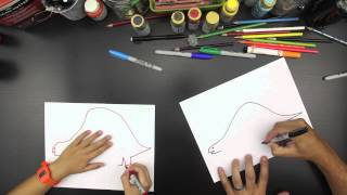 How To Draw A Stegosaurus (for younger kids)