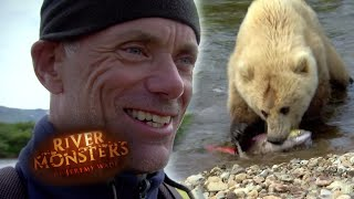 Grizzly Bear Takes Jeremy Wade's Salmon - River Monsters