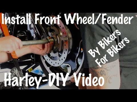 How to Install Front Fender & Wheel on Harley Davidson-Motorcycle Podcast