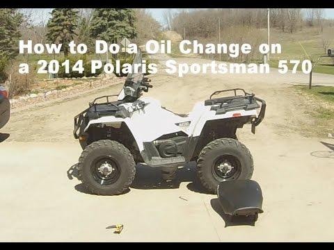 How to Do a Oil Change on a 2014 Polaris Sportsman 570  YouTube