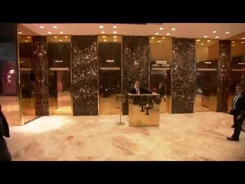 Inside Trump Tower in New York City