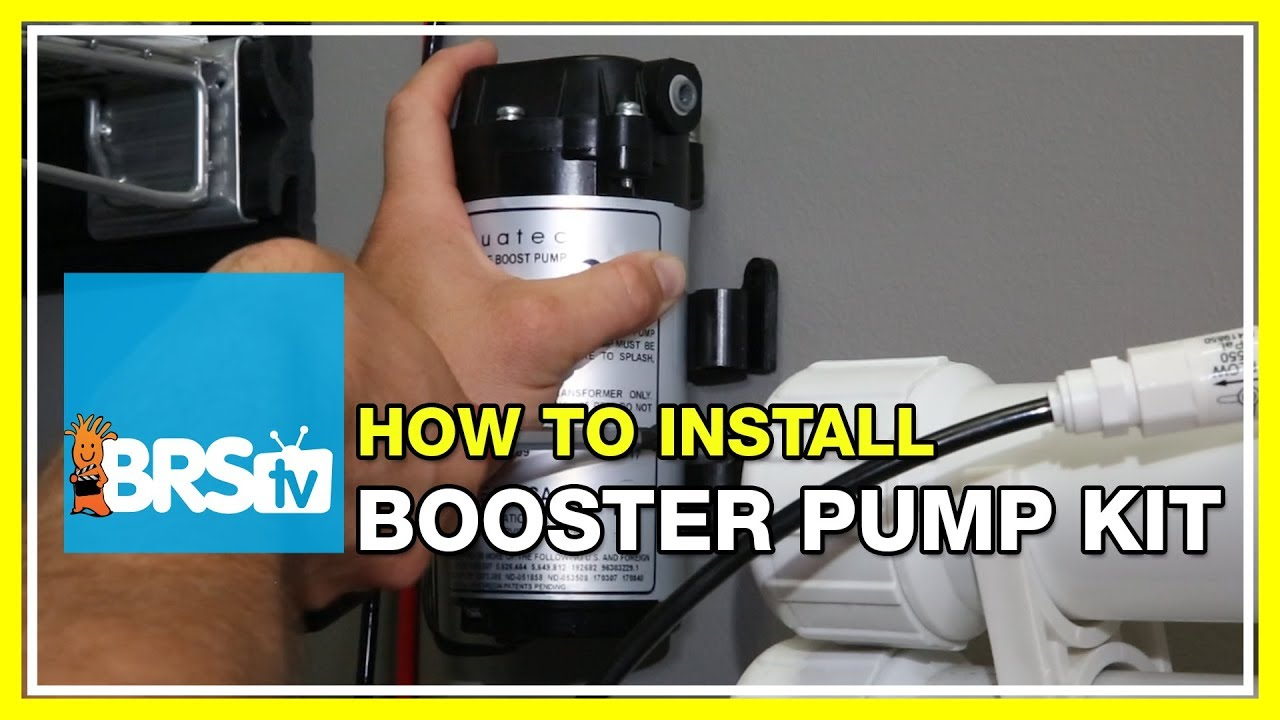 hight resolution of how to install the rodi booster pump kit brstv how to