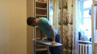 Встроенная гладильная доска в стенку шкафа.(Небольшой поворотный механизм позволяет разместить гладильную доску, между двойной стенкой шкафа. Ссылка..., 2012-09-25T06:34:15.000Z)