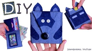 How To Make A Raccoon Wallet – DIY Raccoon Wallet Out Of Old Jeans (NO SEW)