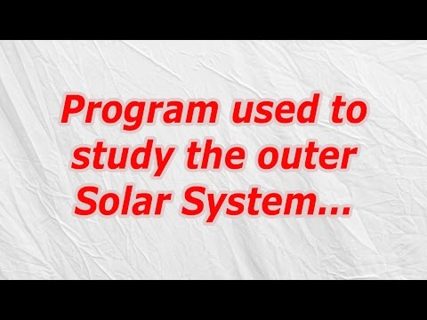 Program used to study the outer Solar System (CodyCross Crossword Answer)