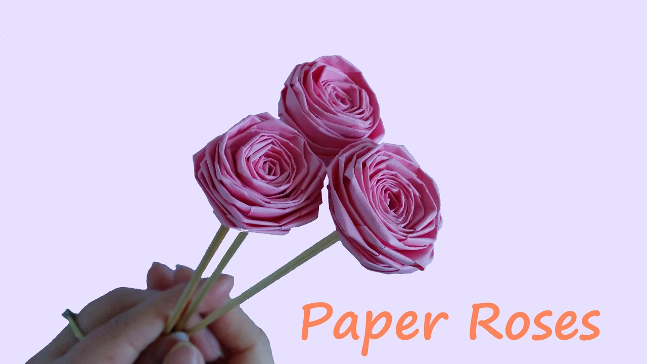 How To Make Paper Roses Very Easy Origami Rose Origami Flowerhoe