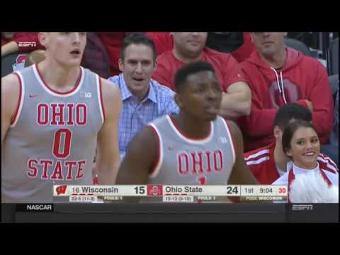 (NCAAM) #16 Wisconsin at Ohio State in 40 Minutes - 2/24/17