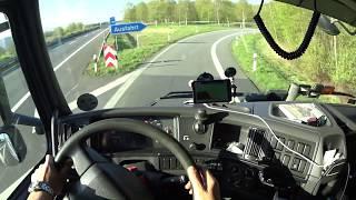 Перевозка авто-масел из Германии в Польшу / Как я пробку объезжал.
