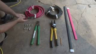 How to make 4/0 battery cables