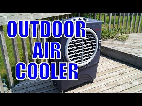 honeywell outdoor air cooler unbox demo bbqfood4u