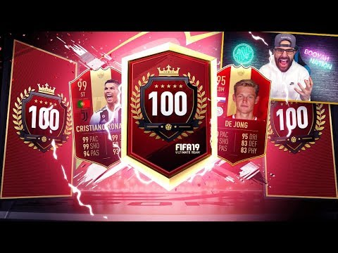 WOW WE GOT INSANE TOP 100 RED PLAYER REWARDS! 11 TOTS PLAYER PACK! FIFA 19 Ultimate Team
