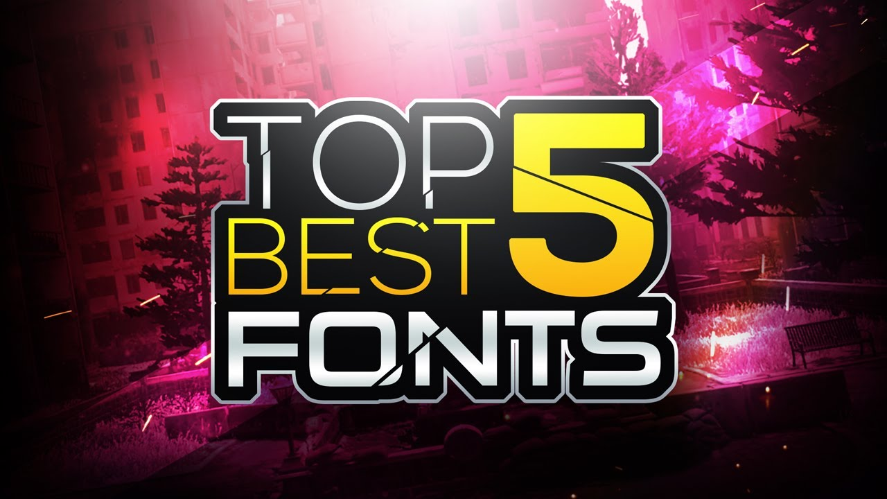 Top 5 Best FONTS For Thumbnails And Banners! YouTube ...