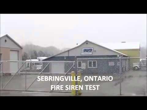 Sebringville, Ontario Fire Siren Test (Model 2's)