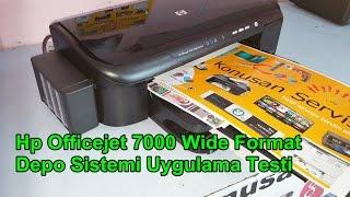 hp officejet 7000 wide format depo sistemi farklı montajı