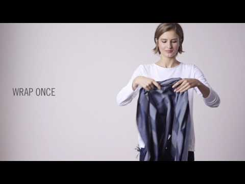 How To Tie A Scarf: EILEEN FISHER February 2017