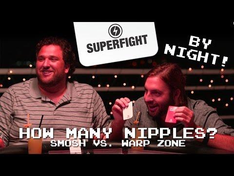 Superfight By Night - How Many Nipples? (Smosh Games vs Warp Zone) |