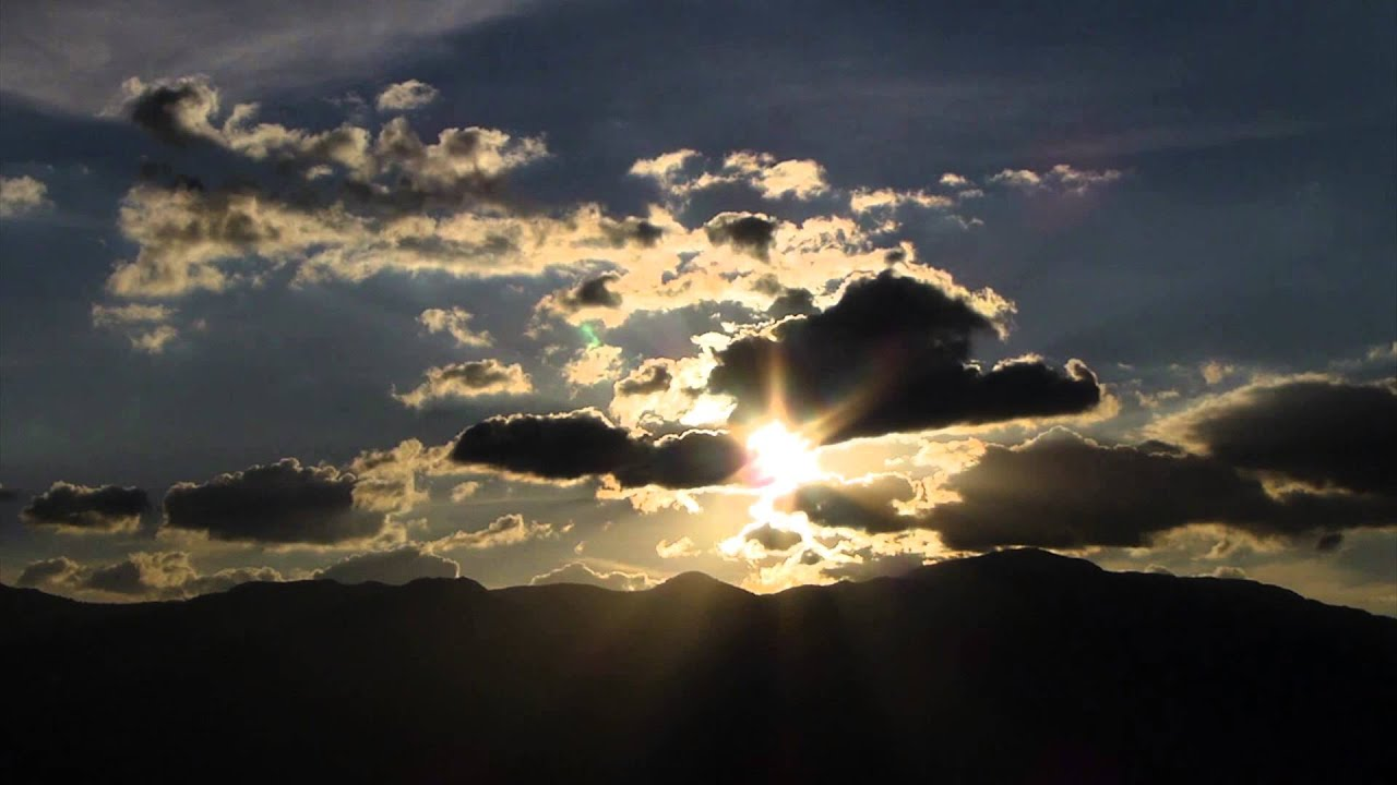 #3953, Atardecer, nubes, cielo y sol [Timelapse], Paisajes