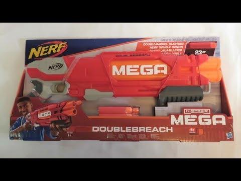 Бластер NERF Mega DoubleBreach Hasbro НЁРФ Мега Даблбрич