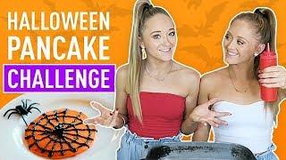 Halloween Pancake Challenge! | The Rybka Twins
