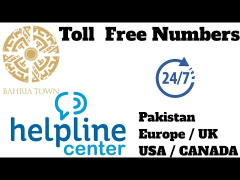 Bahria Town Helpline, Content Center, USA , Canada, UK, Europe & Pakistan Numbers Toll Free Numbers