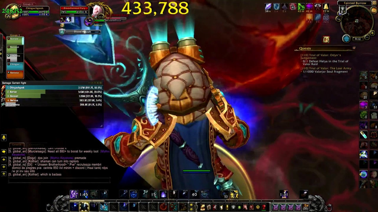 Frost Mage DHT mythic 15 - WoW Freakz