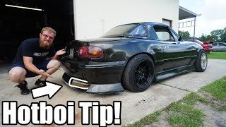 homepage tile video photo for Building a New Exhaust For the LS Miata! *LOUD ALERT*
