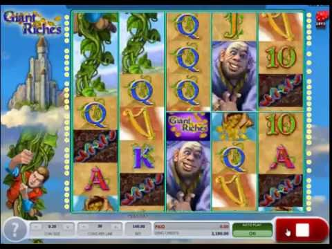 Giant Riches  Exciting New Jack and the Beanstalk slot Theme From Microgaming!