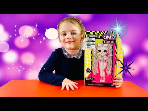 O.M.G. Lights UV Black Light Surprise Doll DAZZLE