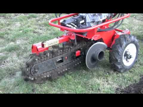 712MT BARRETO MICRO TRENCHER - HOW TO OPERATE