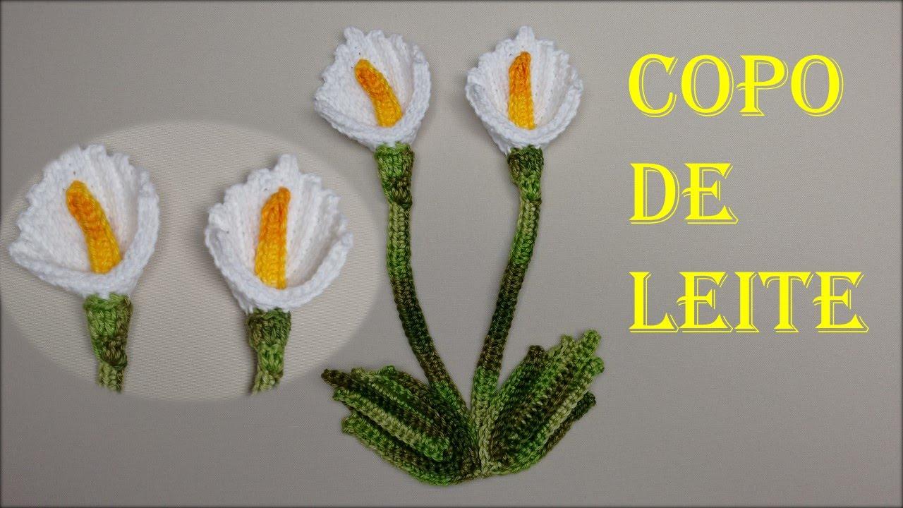Flor Copo de Leite em Croch Fcil de Fazer  Wilma Croch