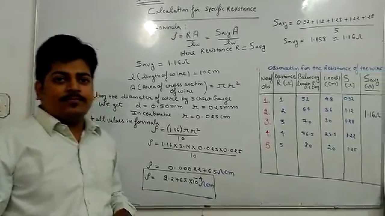 Meter bridge specific resistance by Anshu kapoorPart II - YouTube
