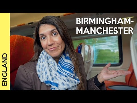 From Birmingham New Street railway station to Manchester Piccadilly - train in the UK