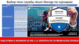 Подготовка к Exam AZ-900 Azure Fundamentals,ч.11:вопросы по Azure Storage: Disks,Files,Blobs,Queues