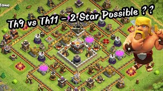 Th9 vs Th11 😱 Incredible 2 Star Attack With Ground Army !