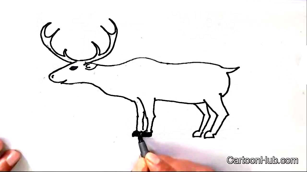 Uncategorized Draw Reindeer how to draw a reindeer in easy steps for children kids beginnersstep by step