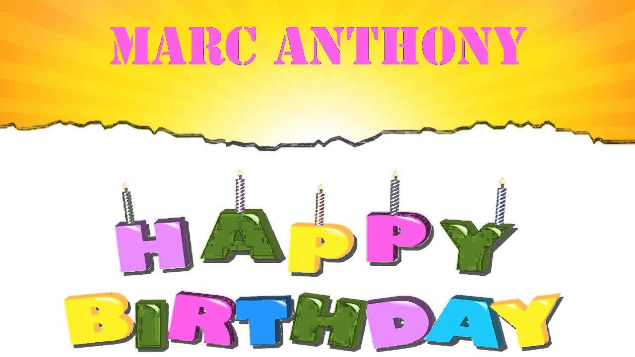 Marc Anthony Wishes Mensajes Happy Birthday Youtube