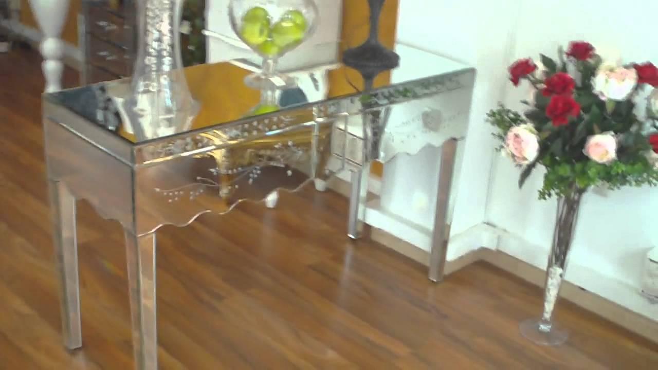 Mueble espejo consola youtube for Muebles de espejo