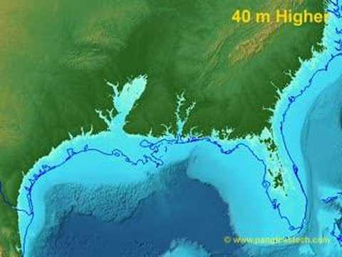 Sea Level Rise On The US Gulf Coast YouTube - Water rising map