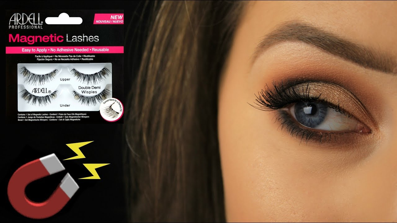 8e05d558b3b How To: Apply Drugstore Magnetic Lashes | Demo/Review - YouTube