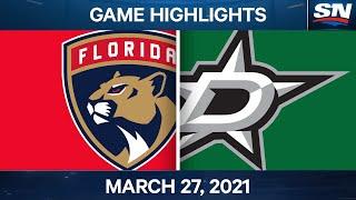 NHL Game Highlights | Panthers Vs. Stars – Mar. 27, 2021