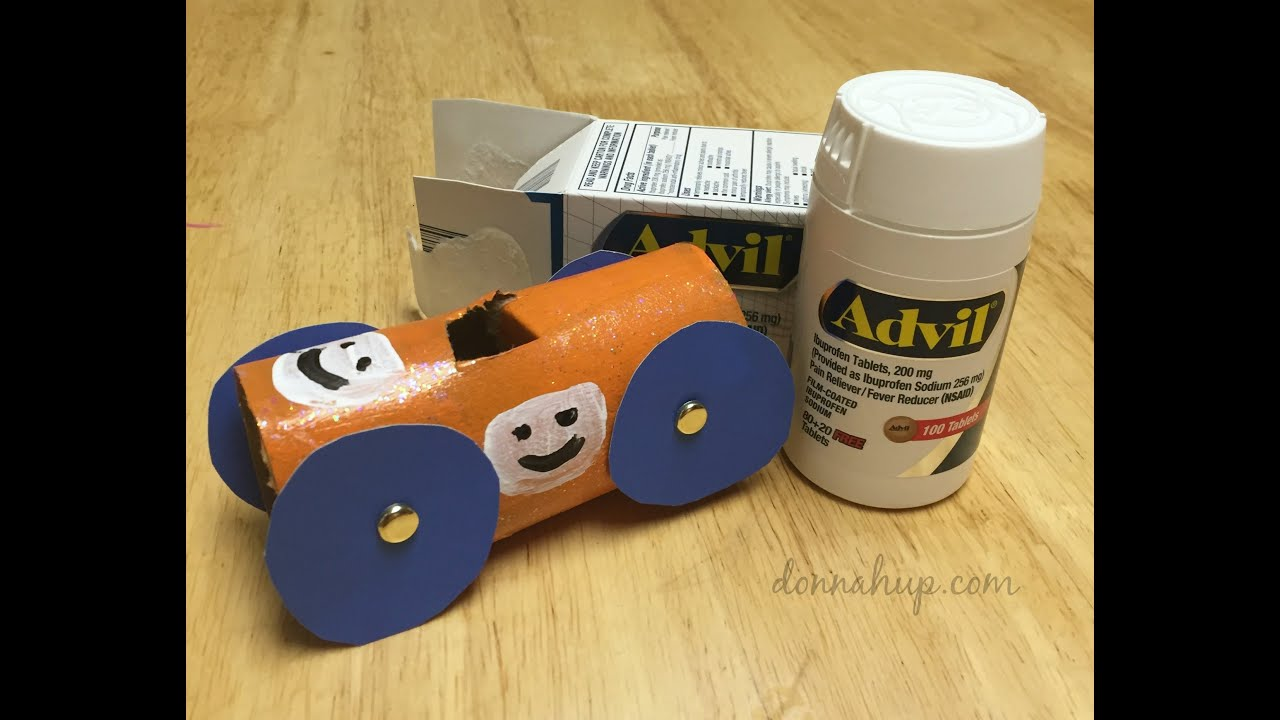 Diy Toilet Paper Roll Race Cars Tutorial Youtube