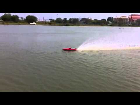 Thai Rc Gas Boat accident Zenoah G300 Mod porting
