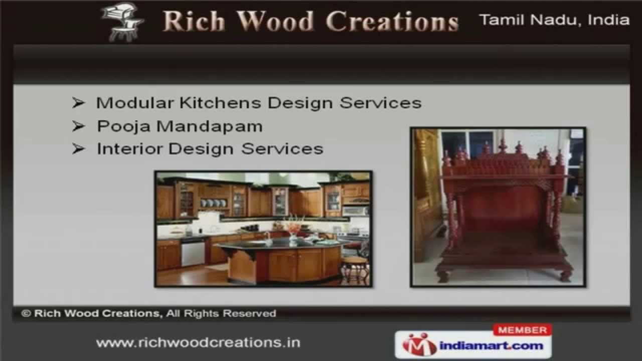 Attractive Home Furniture And Furnishings By Rich Wood Creations, Chennai   YouTube