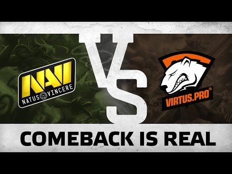 WATCH FIRST: Comeback is real! by Na`Vi vs VP @ ESL One Frankfurt 2016 EU