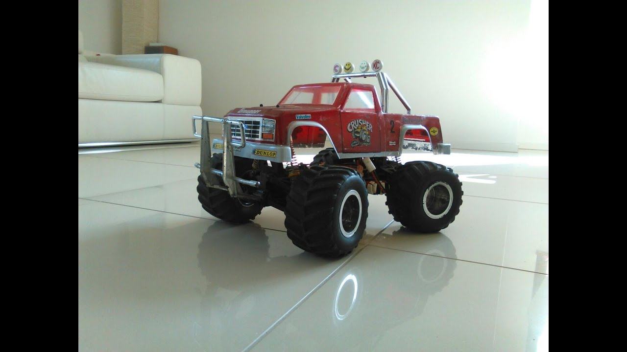 Vintage Royal Crusher Rc Monster Truck 4x4 Ford Youtube