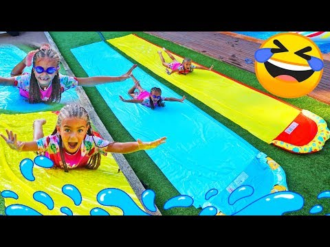 Giselle And Claudia Pretend Play In Summer With Pool Funny Activities For Kids By Las Ratitas