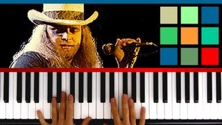 "How To Play ""Sweet Home Alabama"" Piano Tutorial / Sheet Music (Lynyrd Skynyrd)"