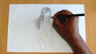 Drawing a Manga Girl