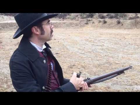 Eric with his Springfield Trapdoor (.45-70 Model 1873)