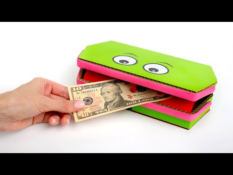 How To Make A Funny Frog Pencil Case With A Secret Money Compartment 🐸💸